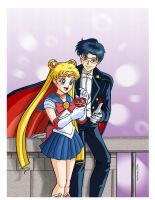 Sailor Moon and Tuxedo Mask by RedShoulder