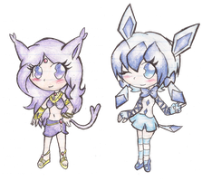 Espeon and Glaceon Adoptables: CLOSED by Scratch-E-Digital