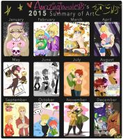 2015 Summary of Art by CarolconC