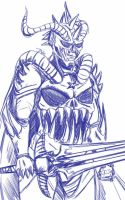 Daily Sketch: Demon Knight by Hunchy