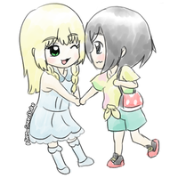 Lillie and Moon Short Drabble-Story by Alien-Snowflake