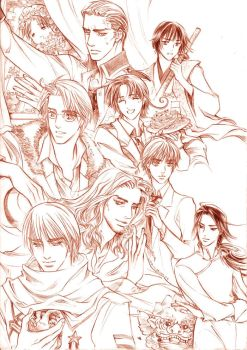 Axis Power Hetalia_draft by walkindream