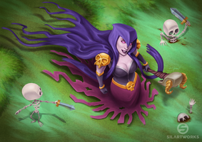 Witch from Clash of Clans by Silartworks