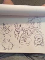 Gravity Falls doodles by MaryBellamy