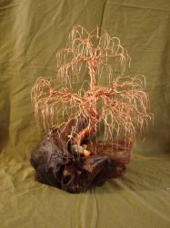 Copper wire willow tree by Rhed-Dawg