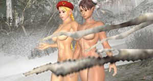 Cammy and Chun Li 5 Photoshoot for TheToonDevil by cablex452