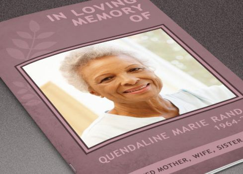 Memory of You Funeral Program Template by loswl