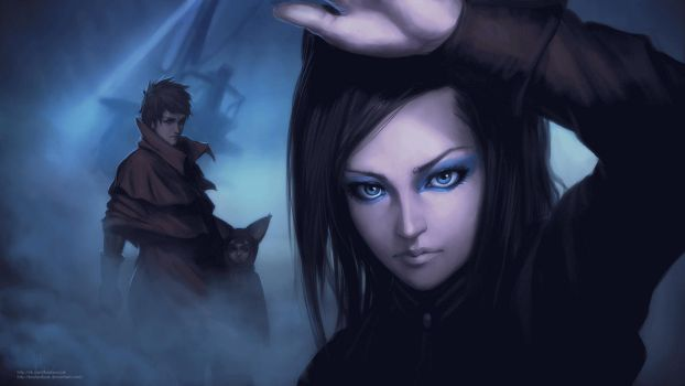 Ergoproxy animation test in PS Cs6 by KostanRyuk