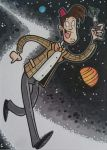 Doctor Who sketch card by tyrannus