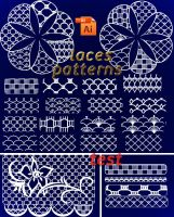 pattern Illustrator laces by roula33