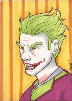 Joker Sketchcard by Ross-A