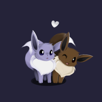 Just a couple of Eevee by Tenicity