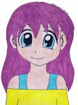 Purple Haired Anime Girl by Animecolourful