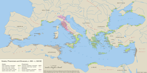 Greeks, Phoenicians and Etruscans, c. 900 - 500 BC by undevicesimus