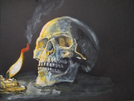 Skull and flame by Thaediem