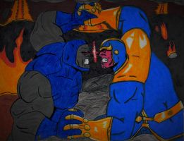 Darkseid vs Thanos by ElvisPresleyFan3577