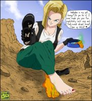 0006 Android 18 (Commission) by FetishZone