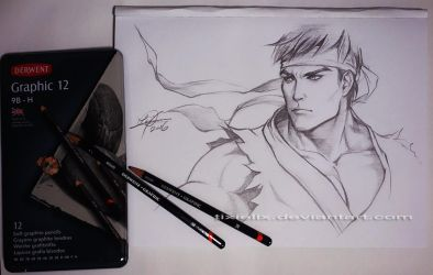 Quick Sketch - Ryu by TixieLix