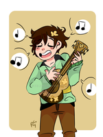 I headcannon Chara loving Music! by Celtonyx