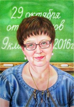 Portrait of a teacher by evlena