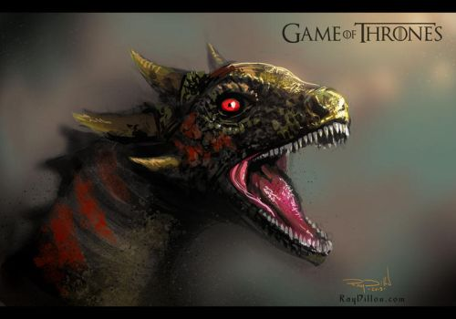 GAME OF THRONES: Khaleesi's Dragon by RayDillon