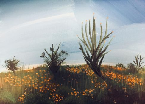 Painting Landscape 01 (Reference in description) by AbunchOfHooplah