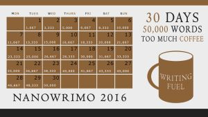 NaNoWriMo 2016 Calendar - Coffee Cup by Margie22