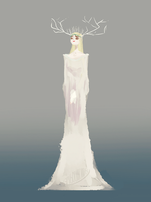 30 mn Speed painting -Elf Queen- by Gribouillonne