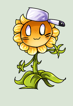 [Pvz OC] Lauraine the Sunflower by Morpang