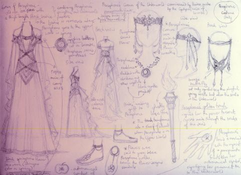 Queen Persephone - Design Study by lordaphaius28