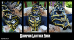 Scorpion Leather Mask by Epic-Leather