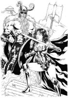 Wonder Woman vs Ares by Leomatos2014