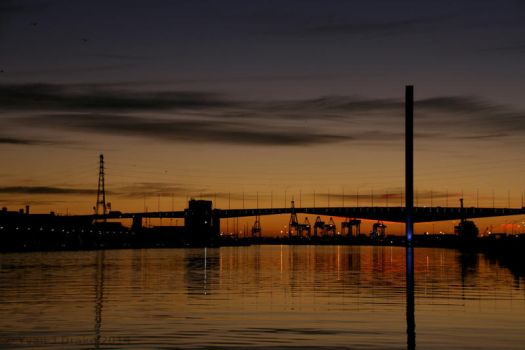 Sunset over the Bolte Bridge IMG_1534 by MrYJDrake