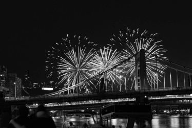 Black and White Fireworks by DroidNurse3