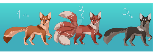 [OPEN] Fox and Kitsune Adopts by Katez-Adopts