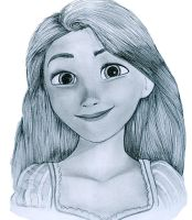 portrait of rapunzel by praneeth388