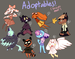 Song adoptables/300pts each/ OPEN by Eruka-steam