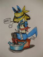 Lucario and lots of cloths by Levvvar