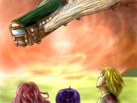 Going to meet with heaven train by Shilphe