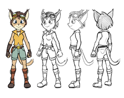 Larxi: Turnaround Sheet by DeannART