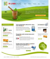 K-Link Store web layout by wiz24