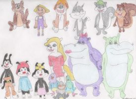 Animaniacs cast drawing by DisneyPrincessNeeNee