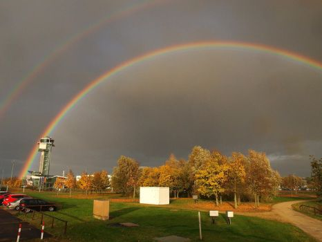 October 22nd, Rainbow at the airport by Taliesin-Neonblack