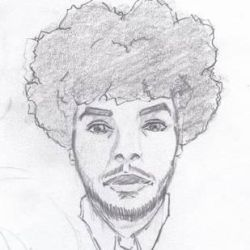 Portrait of me with my Afro by boa91