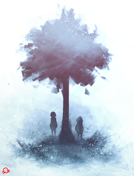 Under the Pale Blue Tree by SentientLine
