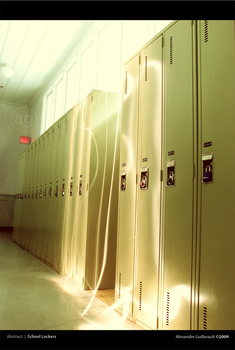 School Lockers by AlexandreGuilbeault