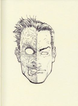 TWO-FACE SKETCH ON MOLESKINE by AgostinoF