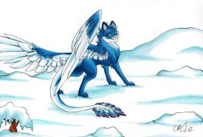 Blue dragon by KattCattis
