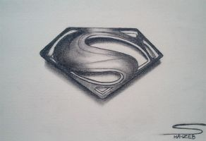 Man Of Steel Logo (Pencil Sketching) by shaixey