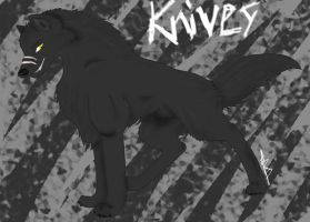 Knives - The Black Blade by wolfyrose623